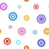 Teste padrão sem emenda com engrenagens lisas Fundo técnico simples Imagem de Stock