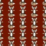 Teste padrão sem emenda com esquilos da floresta Ilustração do vetor para ilustração royalty free