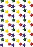 Teste padrão sem emenda com estrelas ilustração royalty free