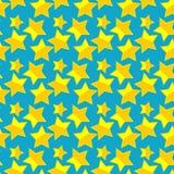 Teste padrão sem emenda com estrelas. Fotografia de Stock