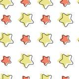 Teste padrão sem emenda com estrelas dos desenhos animados ilustração do vetor