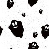 Teste padrão sem emenda com fantasmas engraçados Foto de Stock