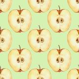 Teste padrão sem emenda com fatia 4 da maçã Imagem de Stock