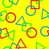 Teste padrão sem emenda com figuras geométricas. Foto de Stock