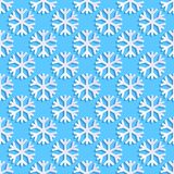 Teste padrão sem emenda com flocos de neve ilustração stock