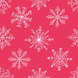 Teste padrão sem emenda com flocos de neve ilustração do vetor