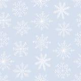 Teste padrão sem emenda com flocos de neve ilustração royalty free