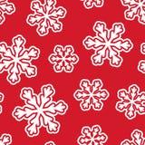 Teste padrão sem emenda com flocos de neve Fotos de Stock Royalty Free