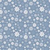 Teste padrão sem emenda com flocos de neve translúcidos em um fundo azul-cinzento Ilustra??o do vetor ilustração royalty free