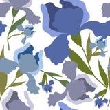 Teste padrão sem emenda com flor da íris Cópia colorida de matéria têxtil Foto de Stock