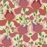 Teste padrão sem emenda com flor da íris Cópia colorida de matéria têxtil Fotografia de Stock Royalty Free