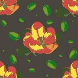 Teste padrão sem emenda com flor da maçã ilustração stock