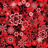 Teste padrão sem emenda com flores ilustração royalty free