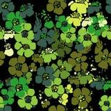 Teste padrão sem emenda com flores Fotos de Stock