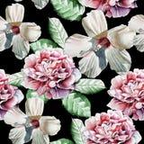 Teste padrão sem emenda com flores Imagens de Stock