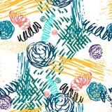 Teste padrão sem emenda com flores abstratas ilustração stock