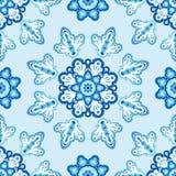 Teste padrão sem emenda com flores azuis Fotos de Stock Royalty Free