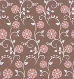 Teste padrão sem emenda com flores cor-de-rosa Fotografia de Stock
