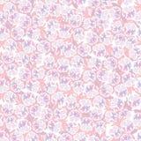 Teste padrão sem emenda com flores cor-de-rosa Imagens de Stock Royalty Free