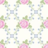 Teste padrão sem emenda com flores cor-de-rosa Foto de Stock