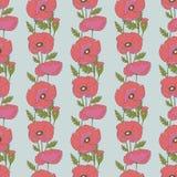 Teste padrão sem emenda com flores da papoila Fotos de Stock Royalty Free