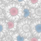 Teste padrão sem emenda com flores do gerbera foto de stock