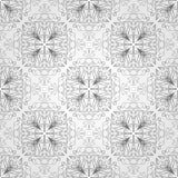 Teste padrão sem emenda com flores e folhas Imagens de Stock Royalty Free