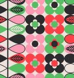 Teste padrão sem emenda com flores e folhas Imagem de Stock