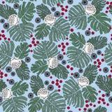Teste padrão sem emenda com flores e motivo da planta Imagem de Stock Royalty Free
