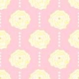 Teste padrão sem emenda com flores em um fundo cor-de-rosa Foto de Stock