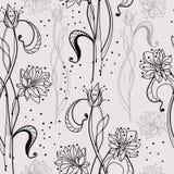 Teste padrão sem emenda com flores macias Fotografia de Stock Royalty Free