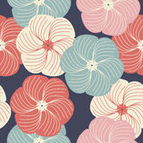 Teste padrão sem emenda com flores macias Imagens de Stock