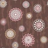 Teste padrão sem emenda com flores redondas Fotos de Stock Royalty Free