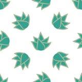 Teste padrão sem emenda com flores suculentos Imagem de Stock Royalty Free