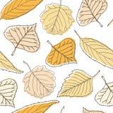 Teste padrão sem emenda com folhas ilustração stock