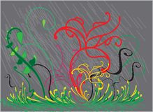 Teste padrão sem emenda com folhas coloridas Foto de Stock