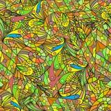 Teste padrão sem emenda com folhas coloridas Fotos de Stock Royalty Free