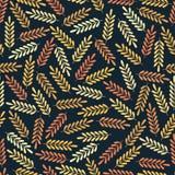 Teste padrão sem emenda com folhas coloridas Cópia colorida de matéria têxtil Fotos de Stock Royalty Free