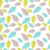 Teste padrão sem emenda com folhas coloridas Ilustração do vetor Imagens de Stock