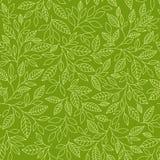 Teste padrão sem emenda com folhas estilizados Fotografia de Stock Royalty Free