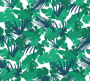 Teste padrão sem emenda com folhas tropicais ilustração royalty free
