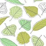 Teste padrão sem emenda com folhas verdes ilustração do vetor