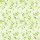Teste padrão sem emenda com folhas verdes Ilustração do vetor Estilo natural Fundo para o vestido, fabricação, papéis de parede,  ilustração do vetor