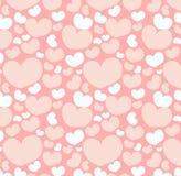 Teste padrão sem emenda com formas do coração Fotografia de Stock Royalty Free