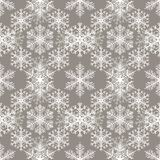 Teste padrão sem emenda com fundo abstrato dos flocos de neve Luz - fundo cinzento ilustração do vetor