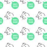 Teste padrão sem emenda com galinha Fotografia de Stock Royalty Free