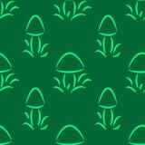 Teste padrão sem emenda com garatujas dos cogumelos Foto de Stock Royalty Free
