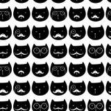 Teste padrão sem emenda com gatos Imagens de Stock