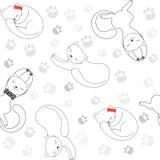 Teste padrão sem emenda com gatos Fotos de Stock Royalty Free