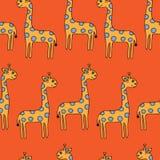 Teste padrão sem emenda com giraffes Fotografia de Stock
